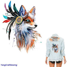 Large Animals Fox Iron On Heat Transfer Embroidery Applique for DIY Craft  Embellishment Dress T-shirt Jacket Jeans Backpack Accessory.