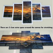 Large 5 Pieces / 5 Panel Canvas,  Ocean Sunset Sunrise Nature  Office  Wall Art Print, Video Game Poster Canvas Art Painting Wall Decor Decoration Decal Mural