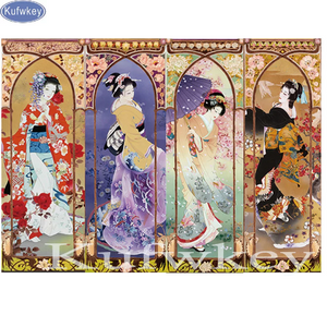 3D Extra Large Japanese Woman Kabuki Diamond Painting kit DIY painting  Classical Cross Stitch Crystal Needlework Embroidery.Diamond Mosaic.