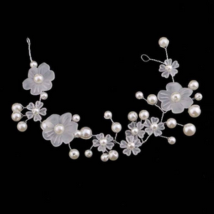 Romantic Luxury Wedding Bridal Vine Hair Accessories For Bridal Handmade Beaded Flowers headdress Elegant Wedding Headbands Jewelry Women.