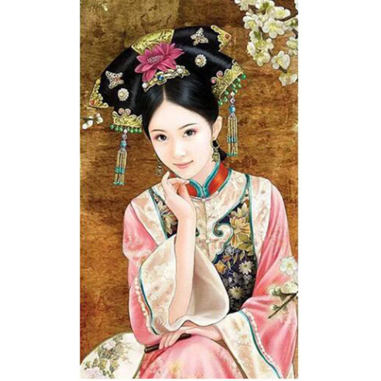 3D Chinese  Woman Diamond Painting kit DIY painting Chinese style Classical beauty. Cross Stitch Crystal Needlework Embroidery.Diamond Mosaic.
