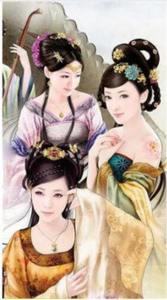3D Chinese  Sisters Woman Diamond Painting kit DIY painting Chinese style Classical beauty. Cross Stitch Crystal Needlework Embroidery.Diamond Mosaic.