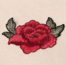 3D Red Rose Floral  Sew on applique . Embroidery Lace Fabric Embroidery Neckline Collar Lace Patches Applique . Clothes Sewing Accessories Sew on. Floral Rose Patch on
