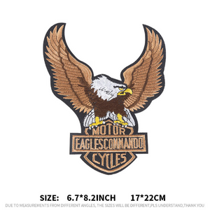 Sew on eagle patch applique . Embroidery Lace Fabric Embroidery Neckline Collar Lace Patches Applique . Clothes Sewing Accessories Sew on. Eagle Skull Motor  Patch on