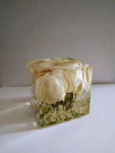 Wedding Flowers  in cube keepsake paperweights. Resin flowers keepsake .Preserving Bridal bouquet.Preserved Funeral Flowers.