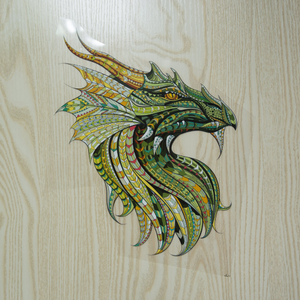 Large Mosaic Animal Green Dragon Patch Iron On Heat Transfer. Applique for DIY Craft. Costume Embellishment. Dress Accessory