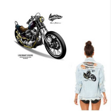 Large Motorcycle Bike  Patch Iron On  Heat Transfer  Applique for DIY Craft . Embellishment Dress T-shirt  Denim Jacket  Backpack Accessory.