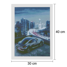 Large Diamond Painting kit Car City Lights  Mosaic Embroidery  rhinestone painting Cross Stitch Crystal Needlework Kids Activity