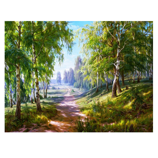 Large Diamond Painting kit Forest Nature  Mosaic Embroidery  rhinestone painting Cross Stitch Crystal Needlework Kids Activity