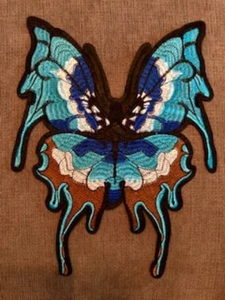 Extra Large  Butterfly Patch Sew On. Embroidery Applique for DIY Craft Costume Embellishment. Dress Denim  Accessory.Washable .