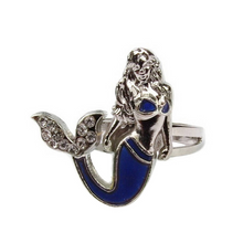 Mermaid Tail Mood Changing Ring. Female Emotion Feelings Color Changing Ring. Size Adjustable Ring.