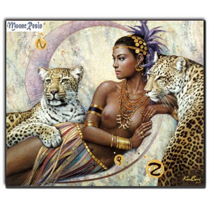 3D Chinese Black African Girl  Woman Tigar Diamond Painting kit DIY painting . Cross Stitch Crystal Needlework Embroidery.Diamond Mosaic.