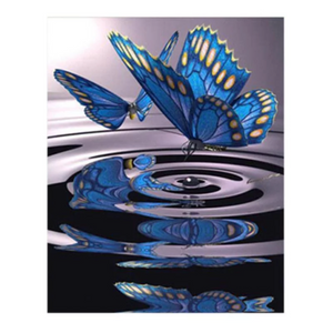 Large Diamond Painting kit Butterfly Water Mosaic painting Cross Stitch Crystal Needlework Kids Activity