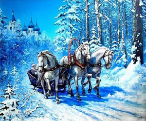 Large 3D Diamond Painting kit DIY Winter Horse  Mosaic  Embroidery Drill rhinestone painting Cross Stitch Crystal Needlework.Family activity