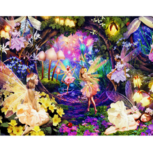 Large Diamond Painting kit Butterfly Fairy Flowers  Mosaic Embroidery  rhinestone painting Cross Stitch Crystal Needlework Kids Activity