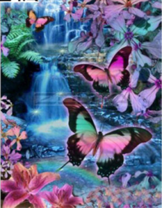 Large Purple Butterflies Diamond Painting kit. DIY  Mosaic  Embroidery rhinestone painting .Cross Stitch Crystal Needlework. Family activity