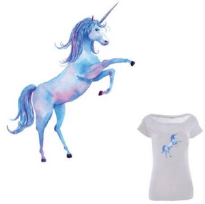 Large Unicorn  Patch Iron On Heat Transfer Embroidery. Applique for DIY Craft. Costume Embellishment. Dress Denim Jacket T-Shirt Accessory