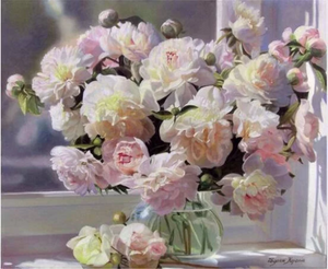 3D Large  Pink Floral Flowers Peonies Diamond Painting kit DIY painting style Classical. Cross Stitch Crystal Needlework Embroidery.Diamond Mosaic.