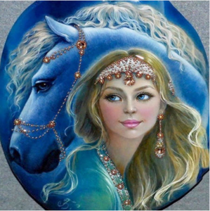 Large Woman Horse Diamond Painting kit Birds Lovers Flowers Mosaic  Embroidery Drill rhinestone painting Cross Stitch Crystal Needlework Kids Activity