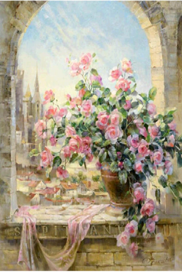 Large Pink Rose Flowers Diamond Painting kit Birds Lovers Flowers Mosaic  Embroidery Drill rhinestone painting Cross Stitch Crystal Needlework Kids Activity