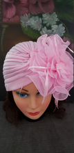 Pink Retro Turban Hat .Kentucky Derby Chemotherapy Hat. Funeral Wedding Hat.
