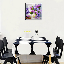 Diamond Painting kit Lilacs Flowers  Nature  Mosaic  Embroidery  rhinestone painting Cross Stitch Crystal Needlework Kids Activity