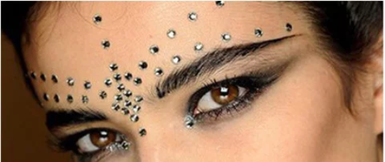 3D Face Tattoo Crystal Stickers. Festive Face Jewelry tattoos Bollywood Forehead Belly dance Makeup Body Stickers.Body Jewelry