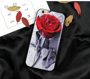 Rose Silicone Slim Fitted Phone Case for iPhone 7, 8, 7 Plus, 8 Plus. Cover for iPhone