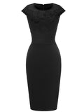 LaceShe Women's Lace Business Evening Pencil Dress
