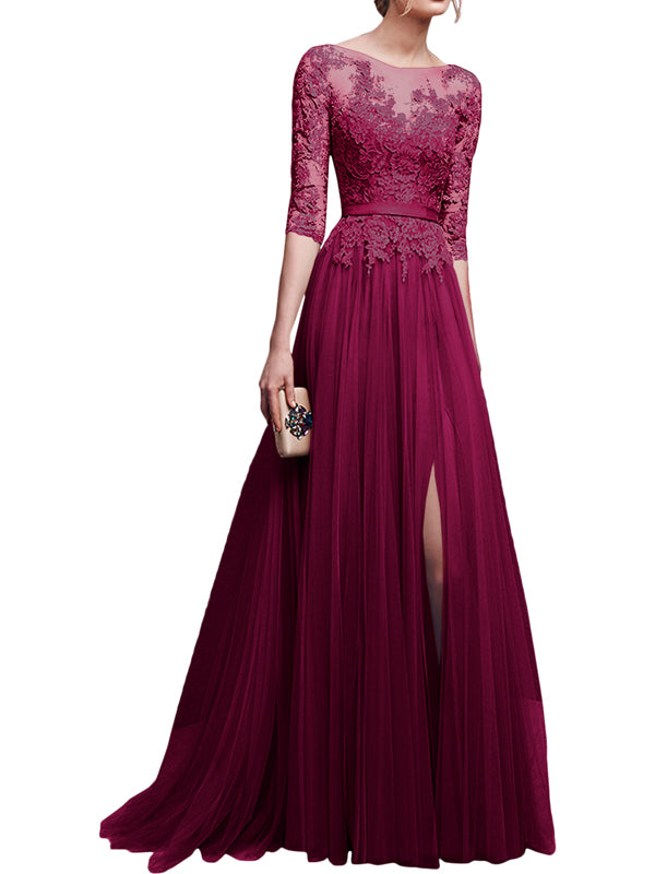 LaceShe Women's Elegant Long Gown Dress