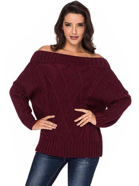 LaceShe Women's Stitching Multi-Color Sweater