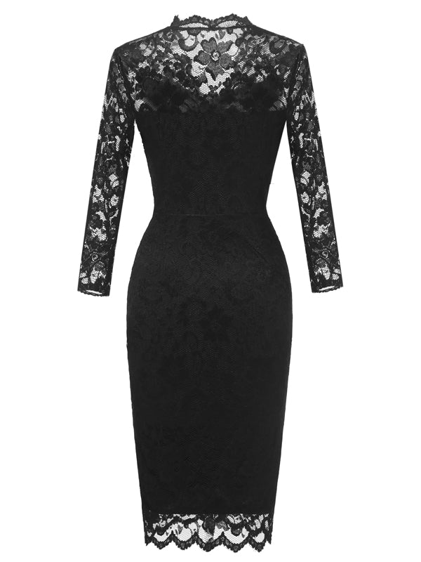 LaceShe Women's Lace Sheath Fashionable Pencil Dress