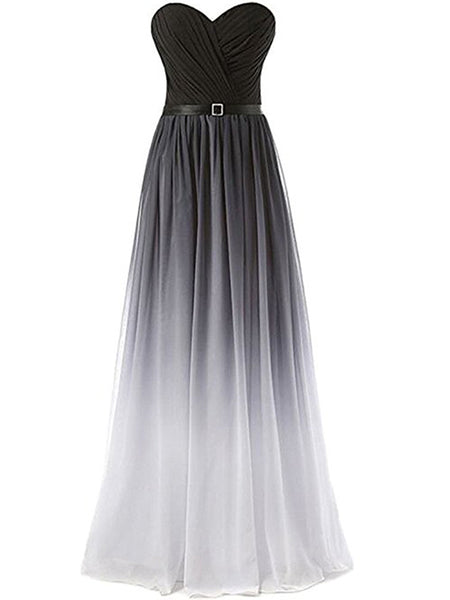 d4e55133cdd Laceshe Women s Sweetheart Strapless Gradient Bridesmaid Dress – LaceShe