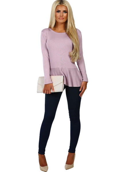 Laceshe Women's Flare Sweater Open Work Jumper