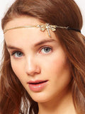 LaceShe Women Shiny Crystals Dragonfly Hairband