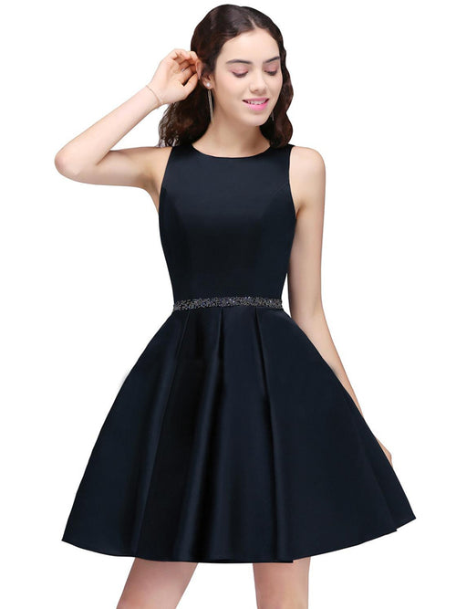 LaceShe Women's Sheath Navy Blue Cute Homecoming Dress
