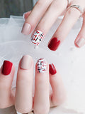 LaceShe Full Cover Short Square Fake Nail For Women And Girls