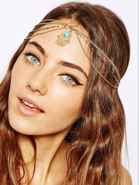 LaceShe Women Bergamot Green Tassel Hairband Hair Accessories