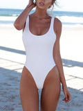 White Sexy One Piece Swimsuit