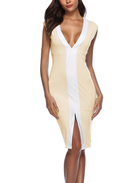 Laceshe Women Macarons Sexy Sleeveless Body Dress