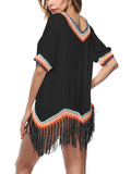 LaceShe Boho Style Tassels Crochet Cover-up