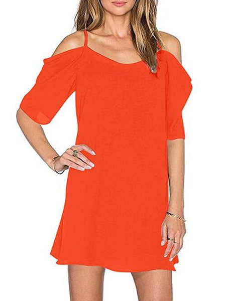 LaceShe Women's Comfortable Off Shoulder Summer Dress