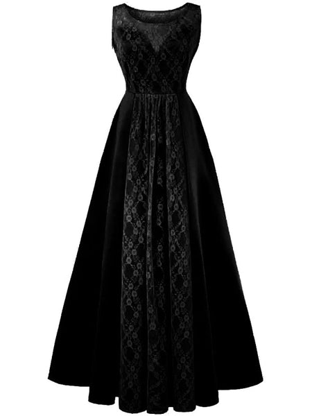 Laceshe Womens Hot Sale Long Lace Dinner Dress