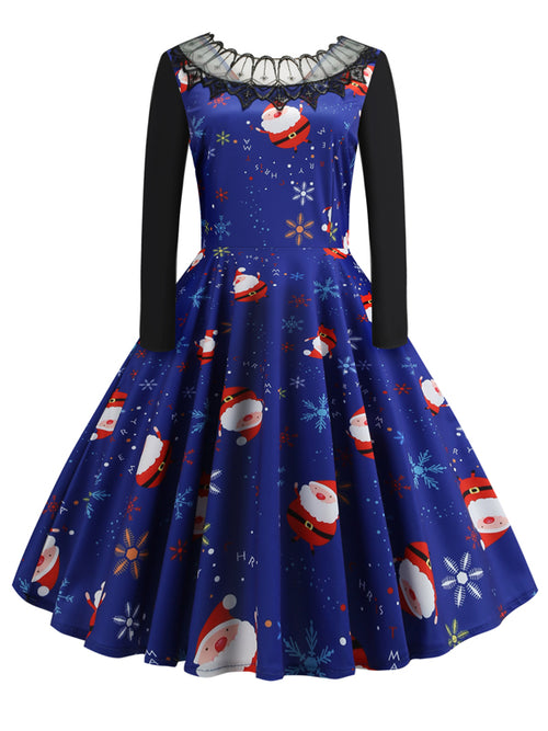 Laceshe Women's Lovely Christmas Vintage Dress