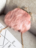 LaceShe Women's Fashionable Multiple Color Hairy Bag
