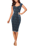 LaceShe Women's Sheath Close-fittting Lace Pencil Dress