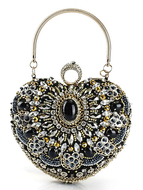 LaceShe Luxurious Crystal Starry Sweetheart Handbag