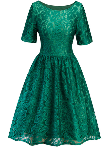 LaceShe Women's Short Sleeve Big Swing Summer Dress