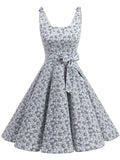 LaceShe Women Bow knot Retro Polka Dot Dress