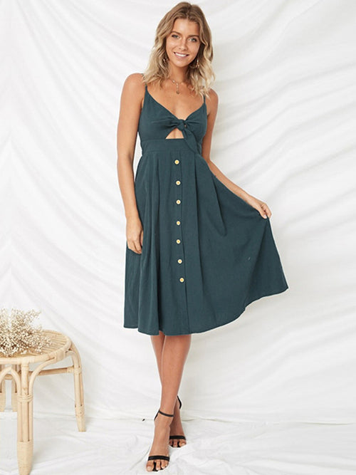 LaceShe Women's Sexy Sling Off Shoulder Summer Dress